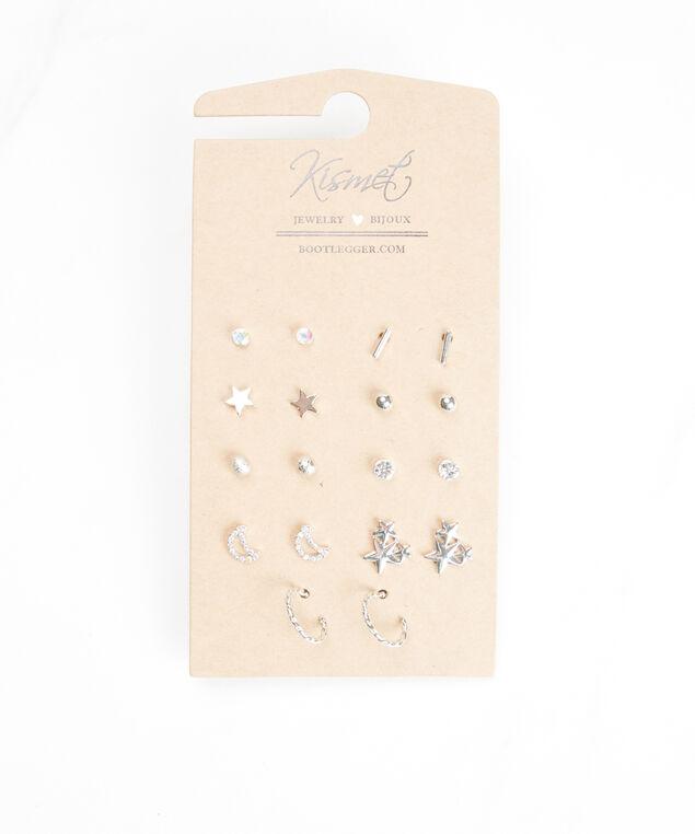 multi pack earring set, Silver