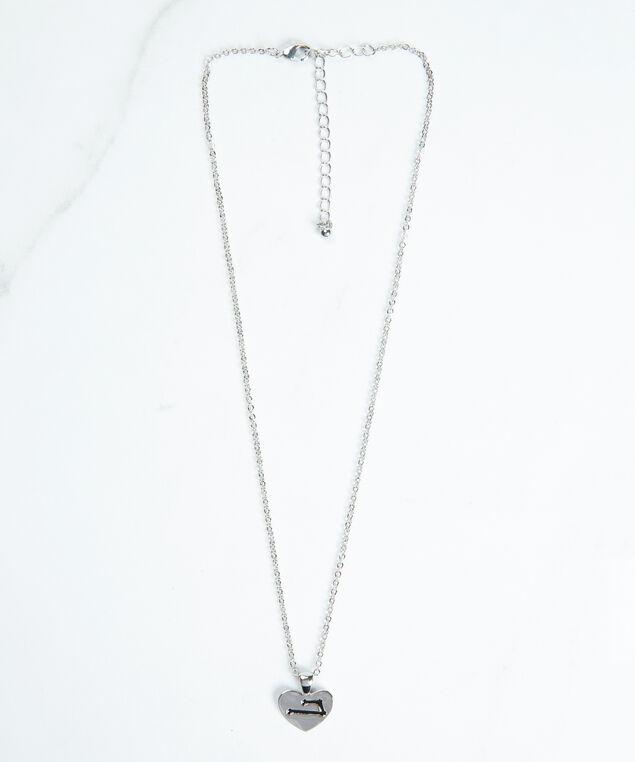 aries zodiac necklace, Silver