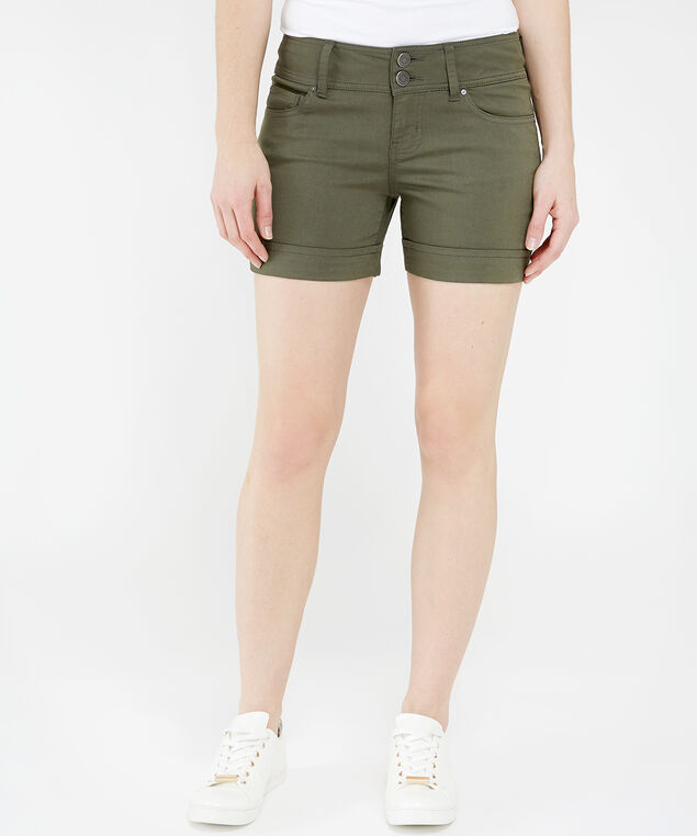 colour midi short su19, OLIVE, hi-res