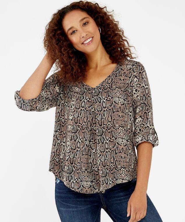 snake print blouse - wb, snake pint, hi-res