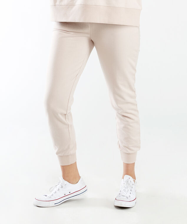 french terry jogger, Rose Taupe