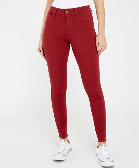 skinny ankle colour hr s20 burnt red, , hi-res