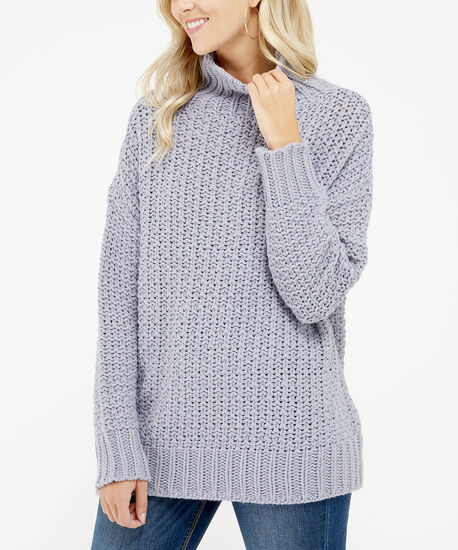 chunky turtle neck sweater - wb, Violet, hi-res