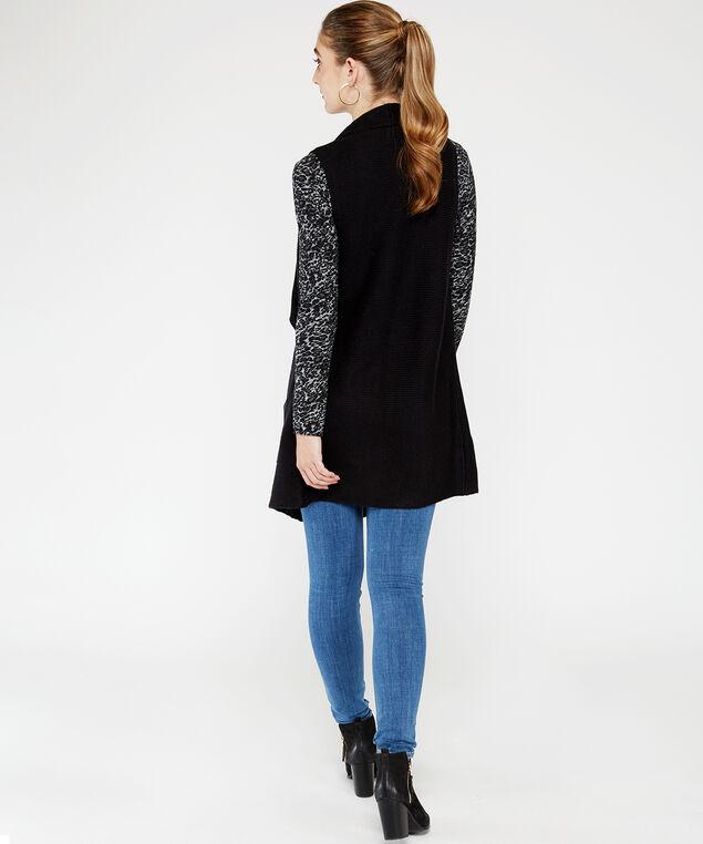 72S1294me sweater vest, Black