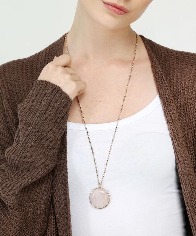 gold-tone reversible pendant necklace, GOLD, hi-res