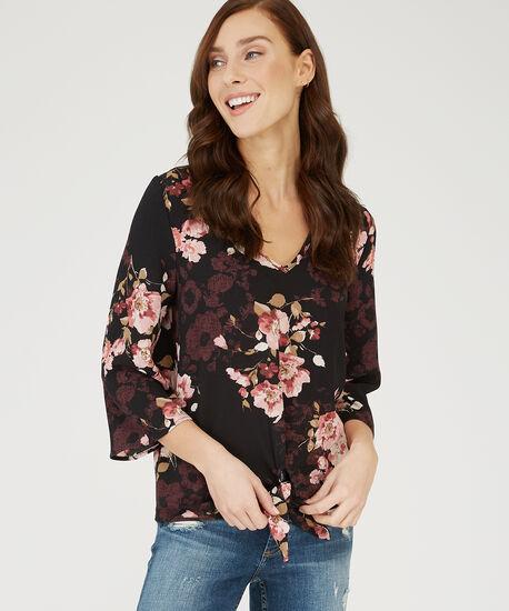 v-neck blouse - wb, CORAL, hi-res