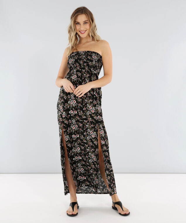 printed maxi with open back - wb, FLOWER, hi-res