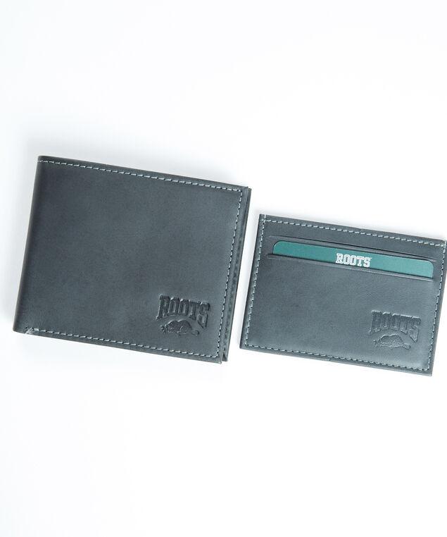 men's leather wallet and cardholder, Distressed Black