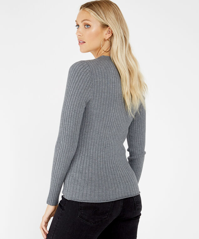 long sleeve pullover - wb, LIGHT GREY, hi-res
