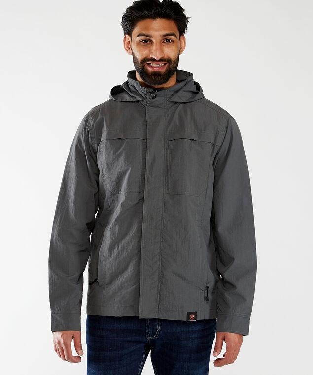 rain jacket with hood, Dark Grey