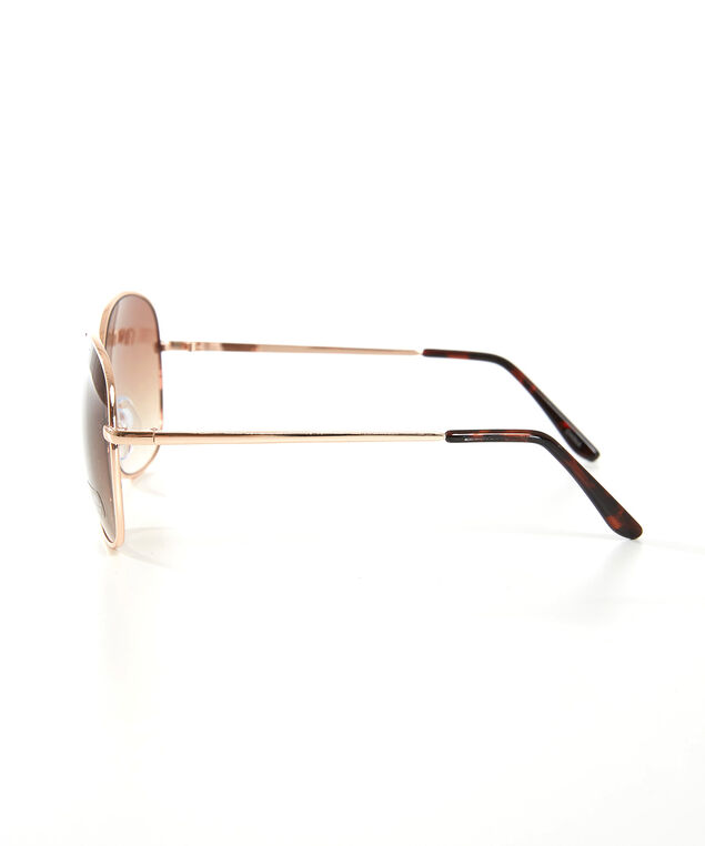 oversized gold sunglasses, GOLD, hi-res