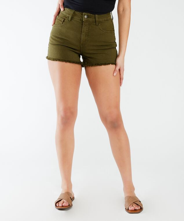vintage mom short - wb, Olive