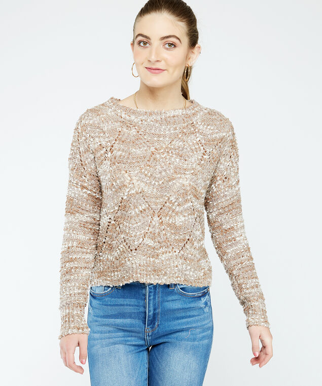 boucle sweater, Natural