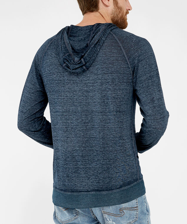 long sleeve hooded tee - wb, BLUE, hi-res