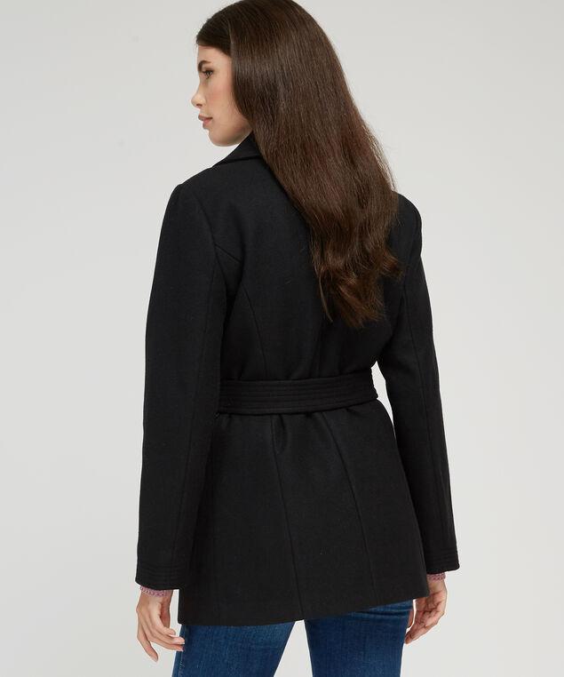 oversized collar wool coat - wb, BLACK, hi-res