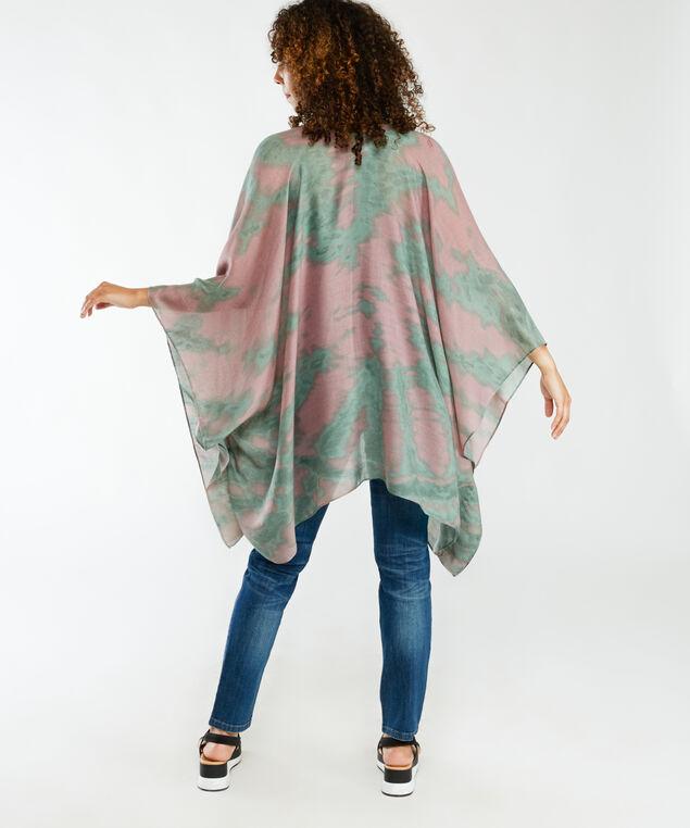 tie dye print kimono, Rose
