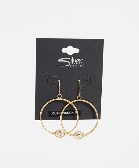 stone hoops, GOLD, hi-res
