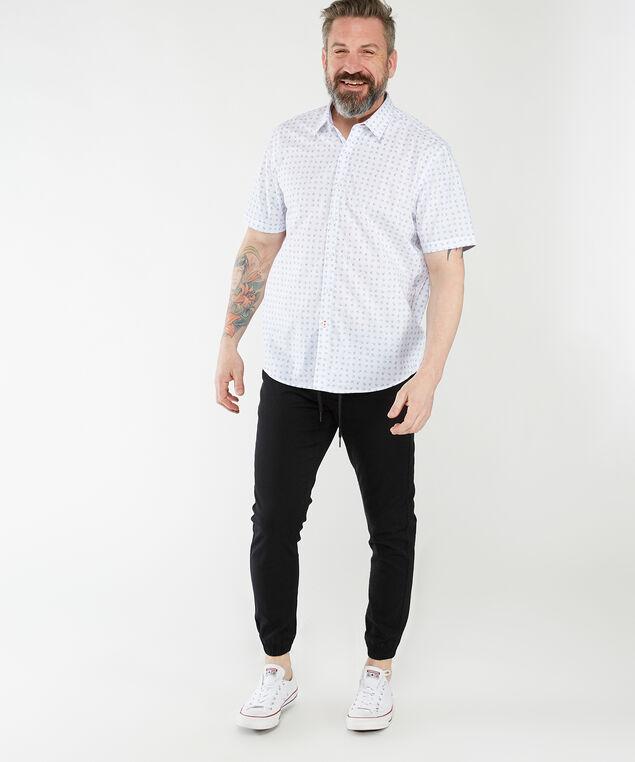 short sleeve printed shirt, White Pt