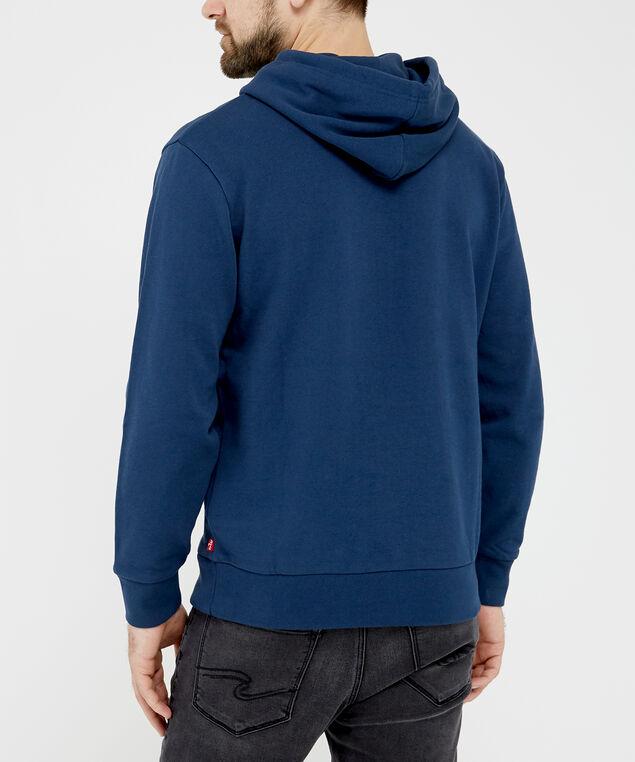 levi's logo hoodie - wb, Blue, hi-res