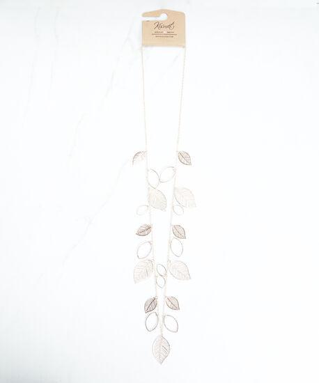 stationed leaf necklace, Rose, hi-res