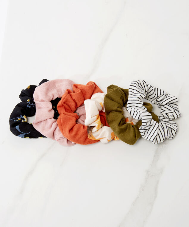 6 pack of hair scrunchies, Multi, hi-res