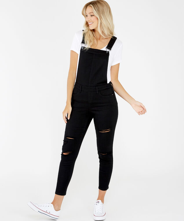 black destructed overall, , hi-res
