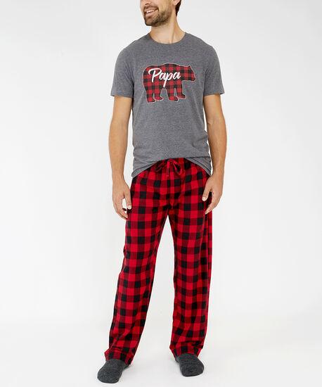holiday pajama pant, red buffalo moose, hi-res