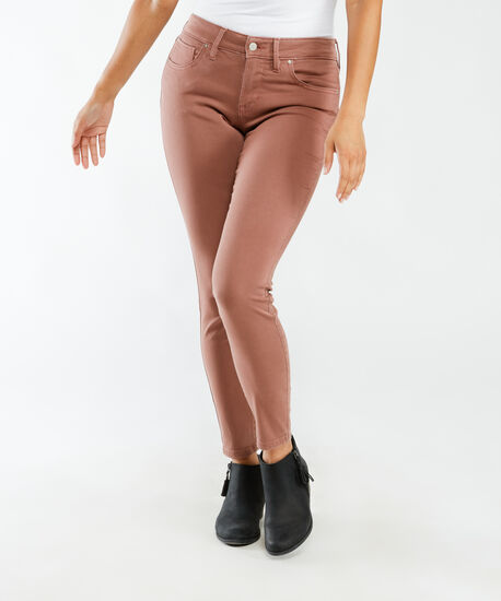 mid-rise skinny ankle - red clay, , hi-res