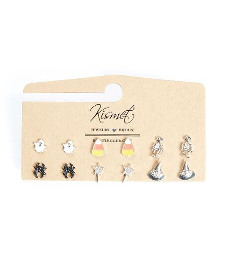 halloween multi pack earrings, Silver, hi-res