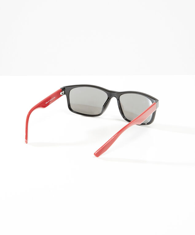 rectangle sunglasses, Red, hi-res