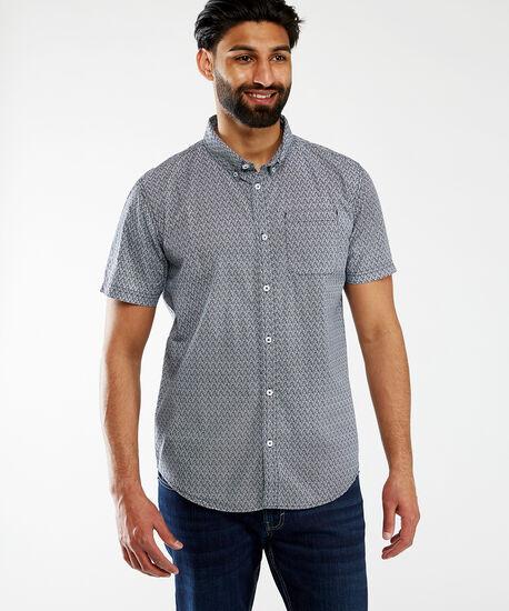 printed button up, Black White Pattern, hi-res
