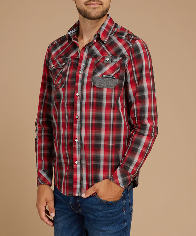 fred plaid, RED, hi-res