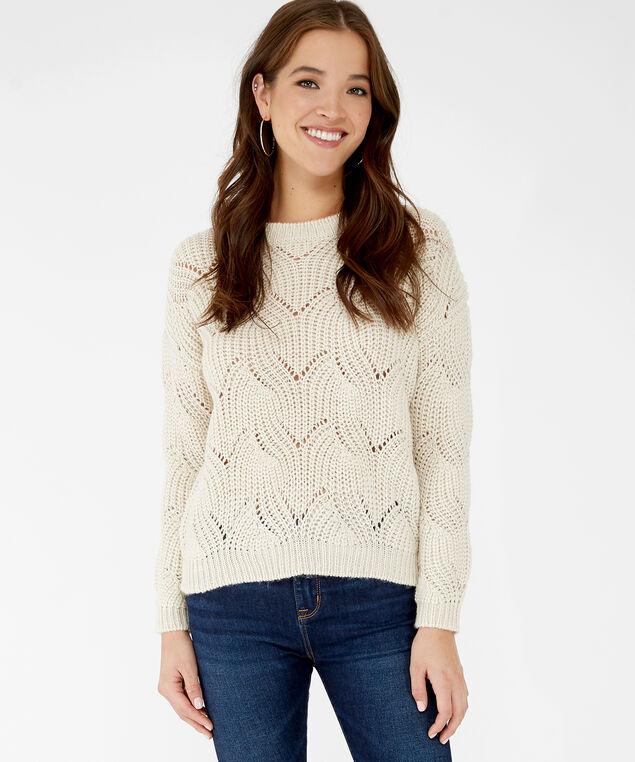 pointelle stitch popover - wb, White, hi-res