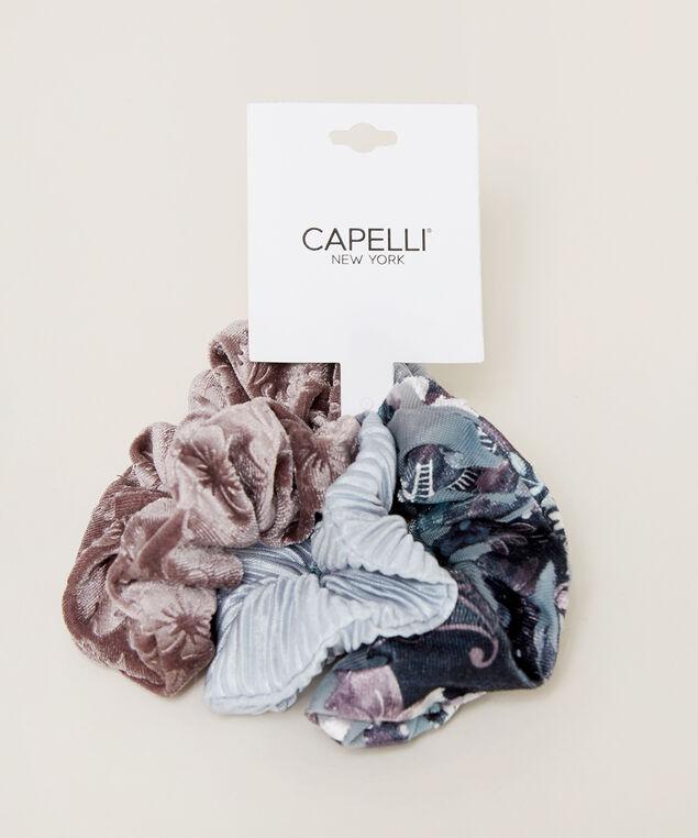 velvet scrunchie 3 pack, MULTI, hi-res