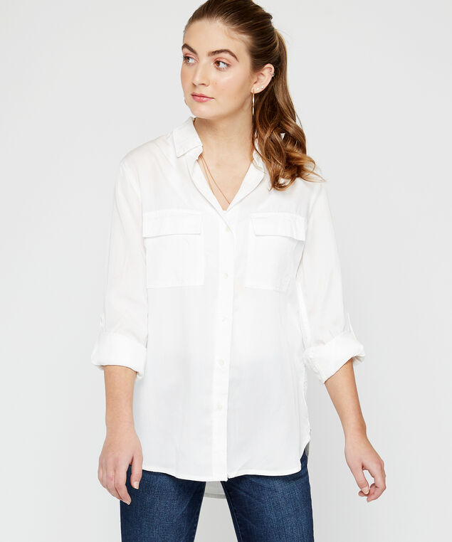 utility pocket shirt - wb, White
