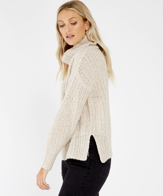 cowl neck pullover - wb, NATURAL, hi-res