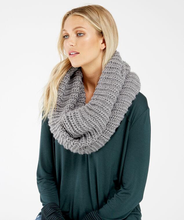 chunky scarf, Grey, hi-res