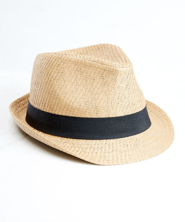 fedora with black band, Natural