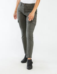 high rise skinny ankle cargo