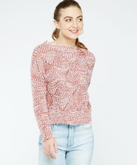 boucle sweater, Rose, hi-res