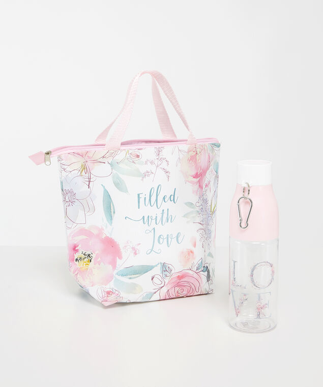 grab and go lunch set, PINK, hi-res