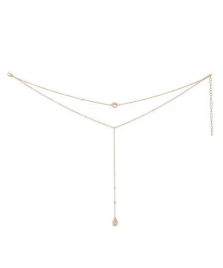 double strand gold choker, GOLD, hi-res