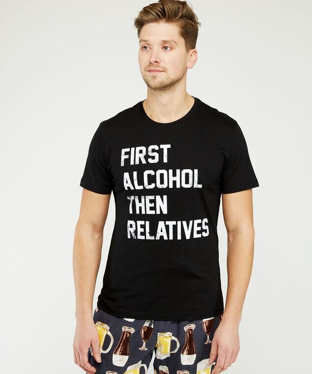 first alcohol t-shirt, Black, hi-res