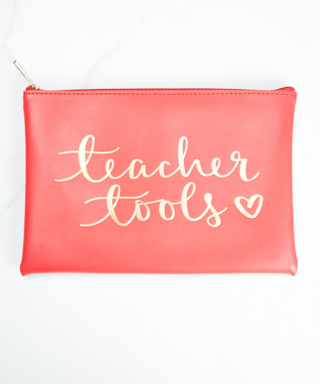 teacher tools pouch, Red