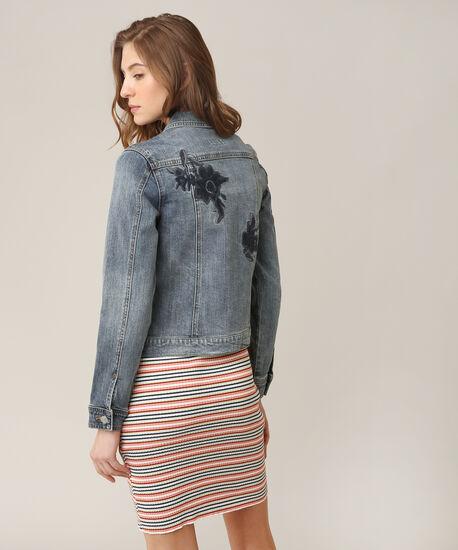 embroidered denim jacket, DSW, hi-res