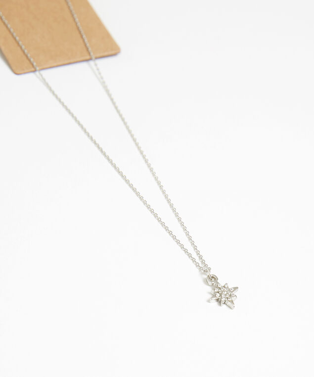 star necklace and earring set, Silver, hi-res