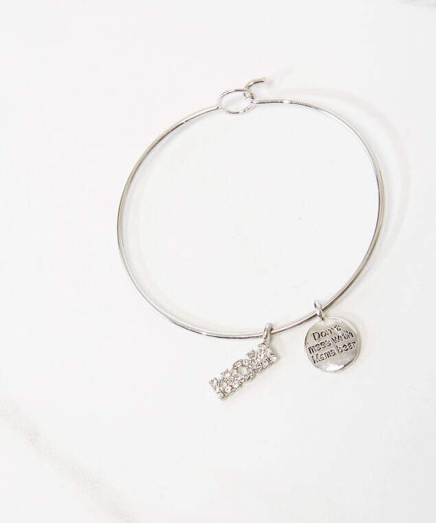 mother's day charm bracelet, Silver, hi-res