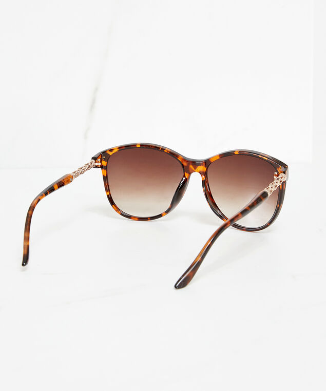 tortoise shell wayfarer sunglasses, Orange