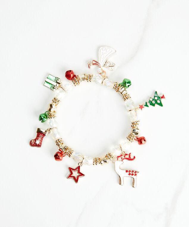 christmas charm bracelet, Gold, hi-res