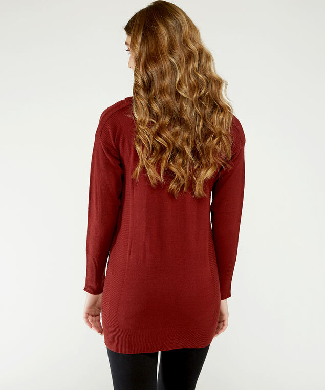 waffle sweater dress - wb, Red